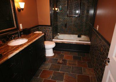 Custom Slate tile Bathroom