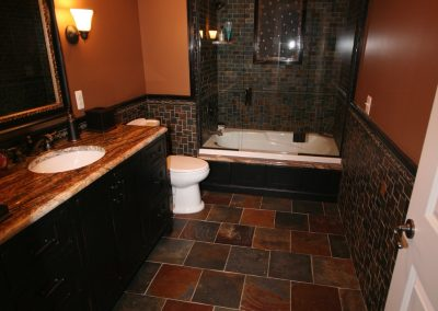 Custom Slate tile Bathroom